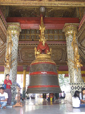Tharrawaddy Min - The Maha Tissada Gandha Bell donated by Tharrawaddy Min can be seen hung in a pavilion on the northeast terrace of the Shwedagon Pagoda in Yangon.