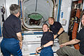 ISS-20 crew awaits the STS-128 crew in the Harmony node.jpg