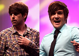 Links Ian Hecox en rechts Anthony Padilla