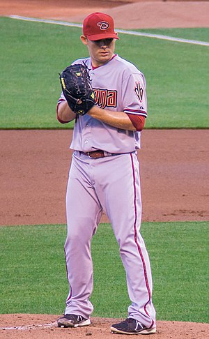 Ian Kennedy - Kennedy pitching for the Arizona Diamondbacks in 2013