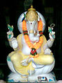 Idol (Marble made) of Ganesha at a choultry in Bhadrachalam.jpg