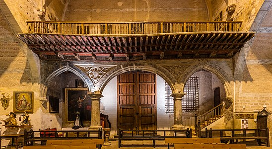 Interior of the church of St Felix, Torralba de Ribota, province of Zaragoza, Spain.