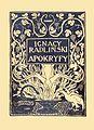 Ignacy Radliński - Apokryfy okładka.jpg