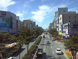 Main road in Yeongdeung-dong Iksan