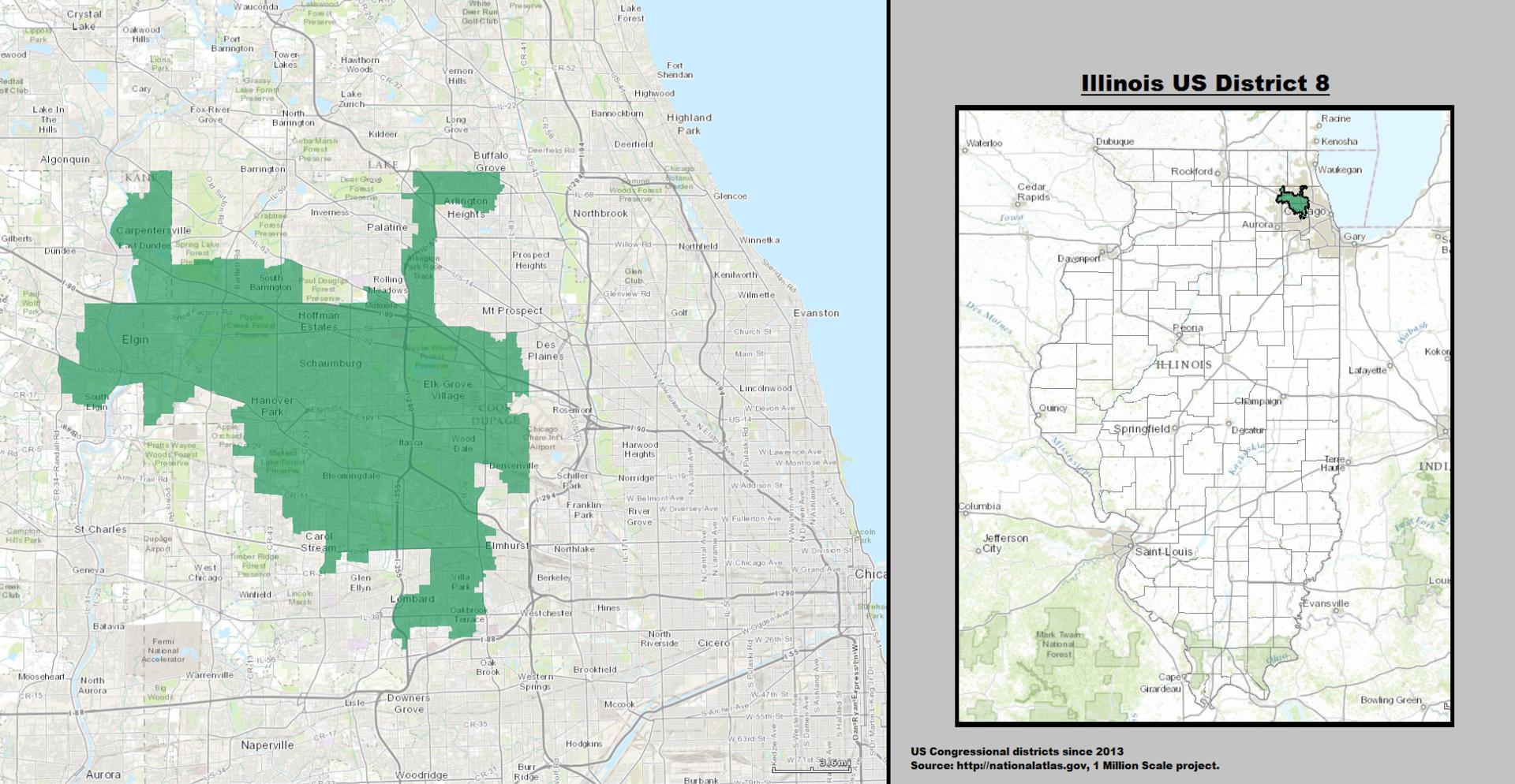 Illinois39s 8th Congressional District  Wikipedia