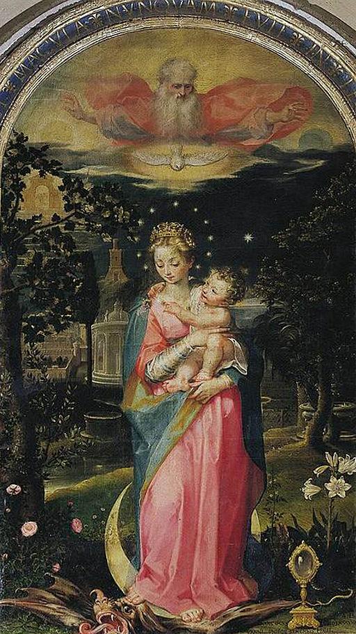 Immacolata Concezione con Gesù e Dio Padre, 1588, Francesco Vanni