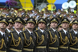 Ivan Chernyakhovsky National Defense University of Ukraine - Cadets of the NDUU marching in the 2017 Kiev Independence Day Parade.