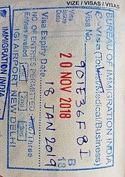Passport stamp - Wikipedia