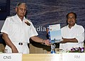 Indian Defence Minister and Chief of Naval Staff release Manual of Navy's Financial Information System.JPG