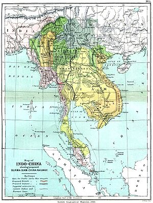 French Cochinchina - 1886 map of French Cochinchina (French Cochin-china)