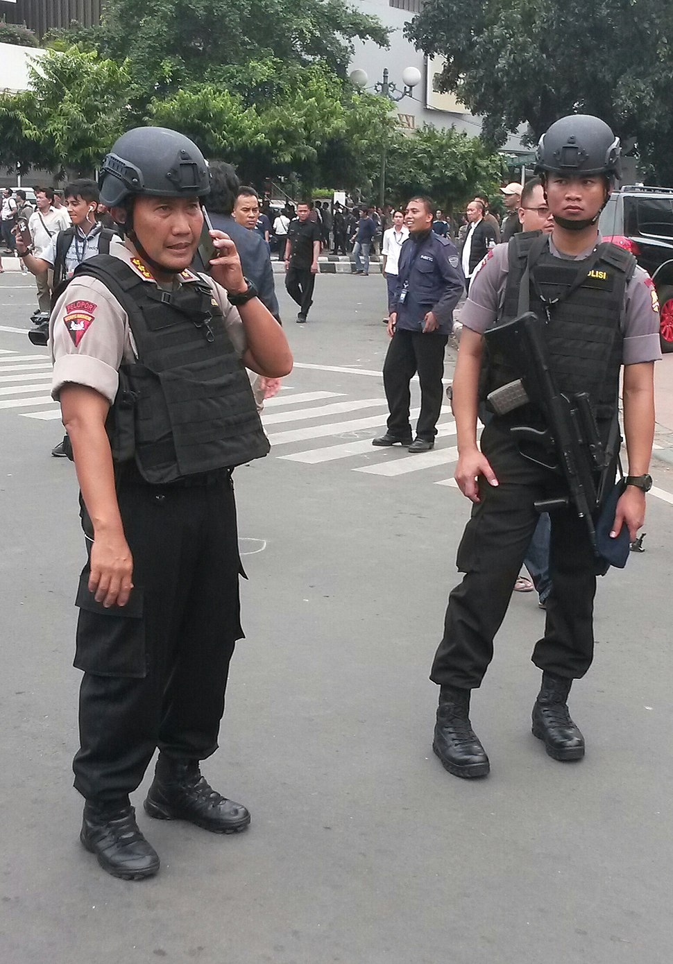 Indonesian BRIMOB police officers
