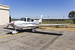 Inland Truck Centre (VH-CSW) Cirrus SR22T G6 Australis on display at the 2018 Wagga City Aero Club open days.jpg