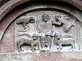 Innichen Stiftskirche - Romanisches Südportal 2 Tympanon.jpg