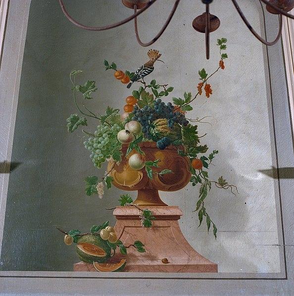 File interieur geschilderd schoorsteenstuk detail for Interieur haarlem