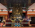 Interior view of the Buddhist temple Amidado with a golden statue of the Buddha seated Kiyomizu-dera Kyoto Japan.jpg