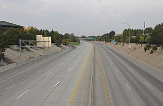 Interstate 184 - Westbound on I-184 from Orchard Street near downtown Boise