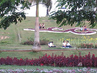 Inya Lake - A popular meeting place for couples