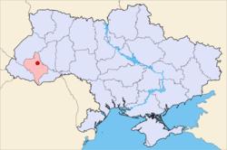 Vị trí của Ivano-Frankivsk trong Ukraina.