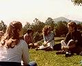 Iximche 1979 - Class atop Pyramid.jpg