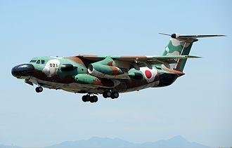 Kawasaki C-1 - The EC-1 at Iruma Air Base (2011).