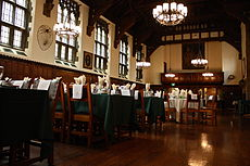 Amazing The Great Hall Set For A Class Dinner