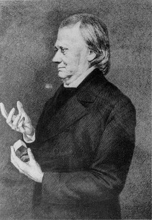 Johann F. C. Hessel - Nineteenth century drawing of Johann Friedrich Christian Hessel