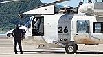 JMSDF SH-60K(8426) front body left side view at Maizuru Air Station July 26, 2015 02.jpg