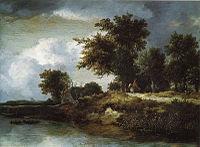 Jacob van Ruisdael - Wooded River Bank.jpg