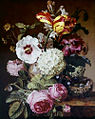 Jacques Barraband 1797 Still Life Flowers w Birds Nest.jpg