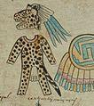 Jaguarkostüm, aus einer Steuerliste der Azteken (zwischen 1520-1530).jpg