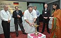 Jairam Ramesh lighting the lamp to inaugurate the Indo-German Symposium on Energy Efficiency organized by Ministry of Power and Federal Ministry for Economic Cooperation and Development.jpg