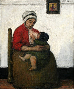 Jakob Smits - Maternity in Red