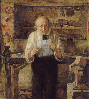 Letter (message) - News from My Lad by James Campbell, 1858-1859 (Walker Art Gallery)