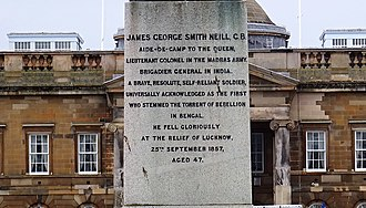 James George Smith Neill - Inscription on the memorial in Wellington Square, Ayr.