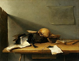 Still-life with Books and Skull (Vanitas)