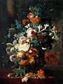 Jan van Huysum - Vase de Fleurs sur Fond de Parc avec Statue.jpg