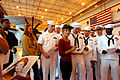 Jane Seymour, a contestant from the television show Dancing with the Stars, signs autographs after performing a dance called the Jive for U.S. Navy Sailors on Naval Air Station Point Mugu, Calif., Oct 071026-N-IA840-004.jpg