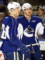 Jannik Hansen Michael Grabner 2009 training camp.jpg