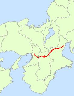 Japan National Route 25 road in Japan