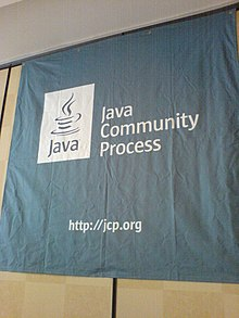 Java Community Process banner at JavaOne 2006.jpg