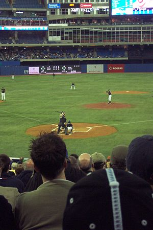 Sport in Canada - A Toronto Blue Jays baseball game at Rogers Centre in Toronto.