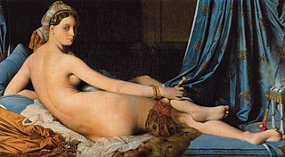 <i>Grande Odalisque</i> painting by Ingres