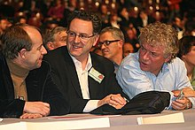 Richard Ferrand (au centre) lors du congrès de Reims (2008).