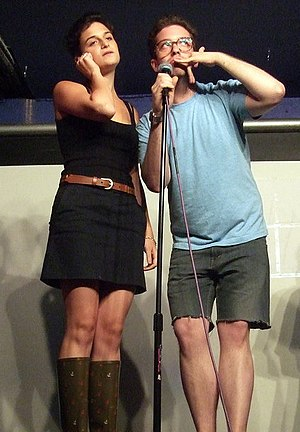 Jenny Slate - Slate performing with Gabe Liedman in 2007