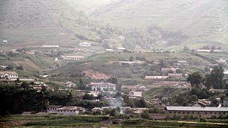 Manpo Municipal City in Chagang Province, North Korea