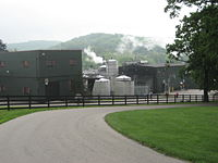 Jim Beam distillery as viewed from the Beam House.