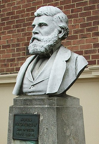 James Macandrew - Bust of James Macandrew outside Otago Settlers Museum, Dunedin