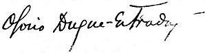 Osório Duque-Estrada - Image: Joaquim Osório Duque Estrada (assinatura em 1902)