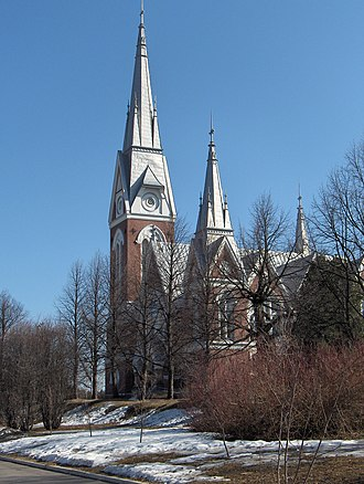 Joensuu - Evangelical-Lutheran Church, Kirkkokatu, Joensuu
