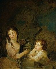 Zwei Kinder aus der Familie der Grafen Thomatis